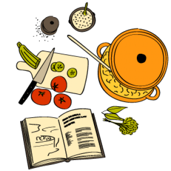 Poulet aux noix de pécan, poivrons et nouilles sautées