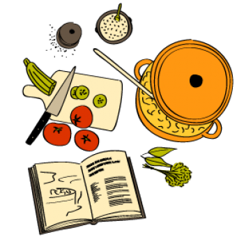 Poire pochée, huile d'argan et menthe fraîche